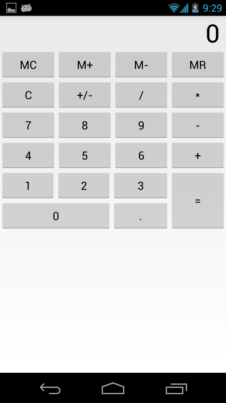 Android tutorial calculator app with example java code innovative calculator portrait calculator landscape tags android tutorial baditri Image collections