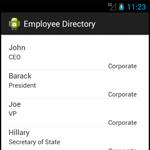 Building a Mobile Employee Directory – Step 3: Save (Persist) the data into a SQLite Database & Load a ListView from a SQLite Database