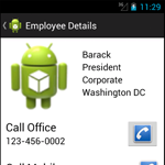 Building a Mobile Employee Directory – Step 5: Create a ContentProvider to access the database.