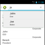 Building a Mobile Employee Directory – Step 6: Create a Search Interface using Android's search dialog